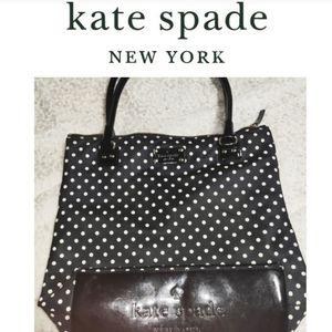 Kate Spade Black & White Polka Dot Tote